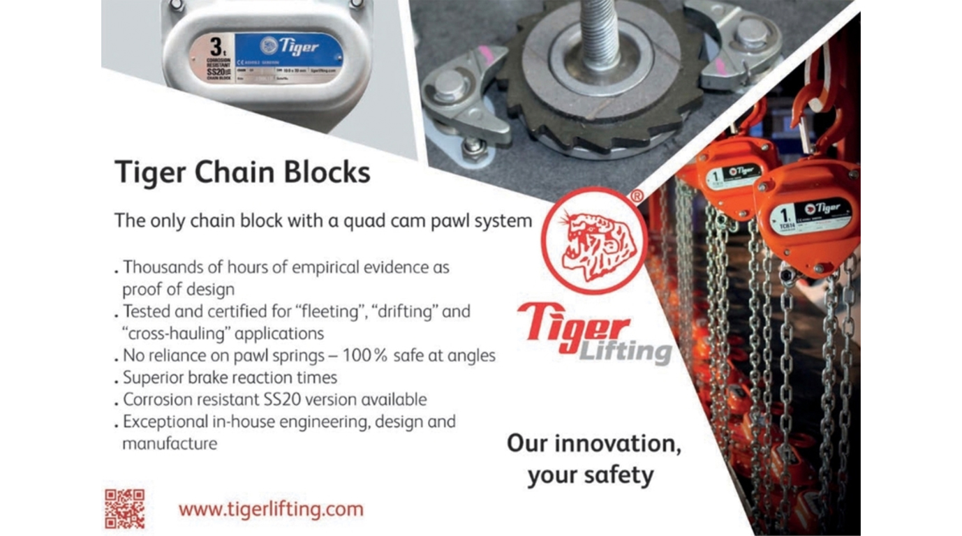 Tiger Chain Blocks featured in Hoist Magazine's April Edition