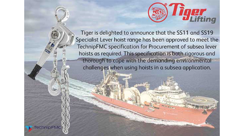 Tiger Subsea Lever Hoists Are Technipfmc Approved